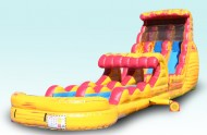 24 Ft Dual Lane Fire N Ice Inflatable Water Slide Rentals