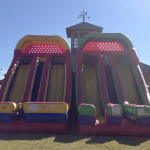 This is a 24 foot tall inflatable slide rental