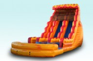 Fire N Ice Dual Lane Inflatable Water Slides For Rent