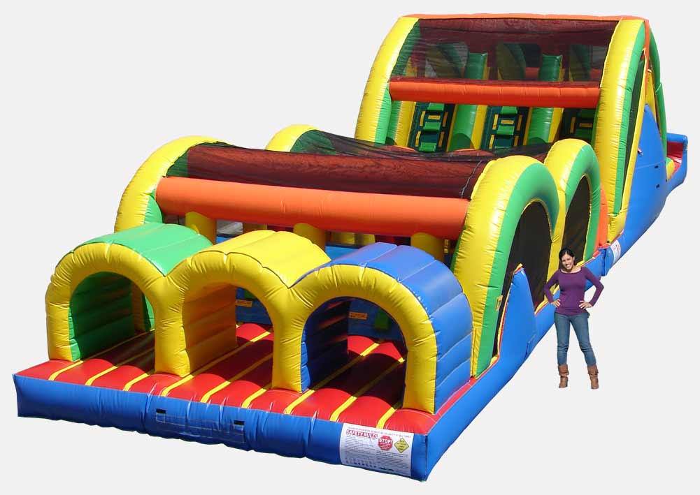 3 Lane Mega Thrill Obstacle Course for Rent