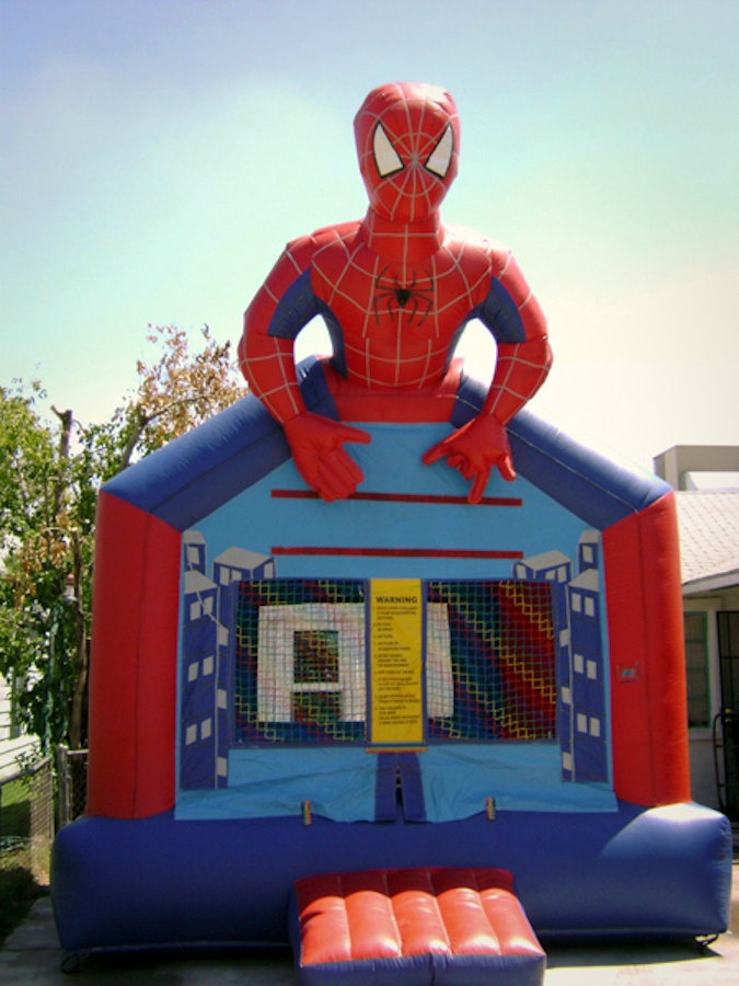 Half Spiderman Inflatable Bounce House Rentals Jumpers
