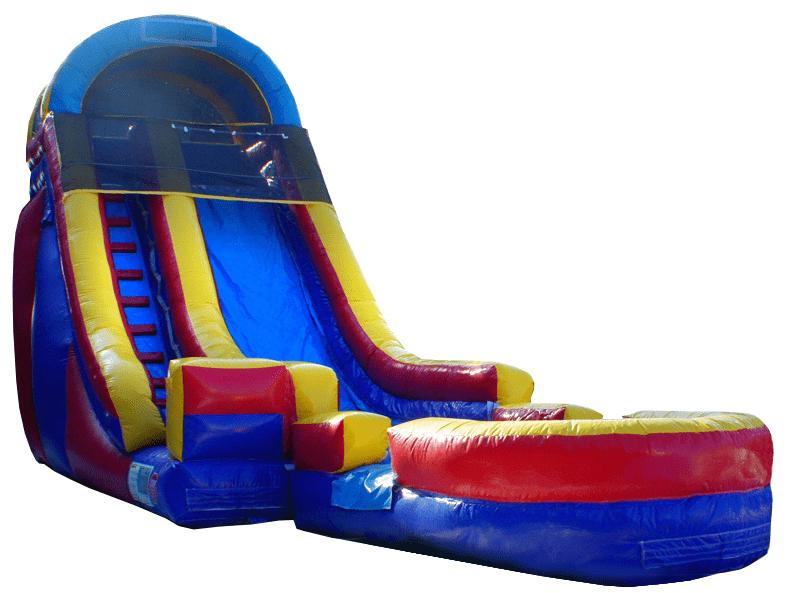 18ft Screamer Slide with Pool Water Slide