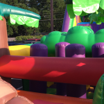 50 Ft Tropical Obstacle Course for Rent - Inside