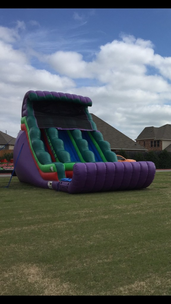 18ft Dual Water Slide Inflatable Slides For Rent