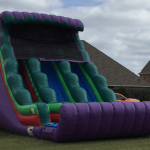 this is an inflatable slide rental