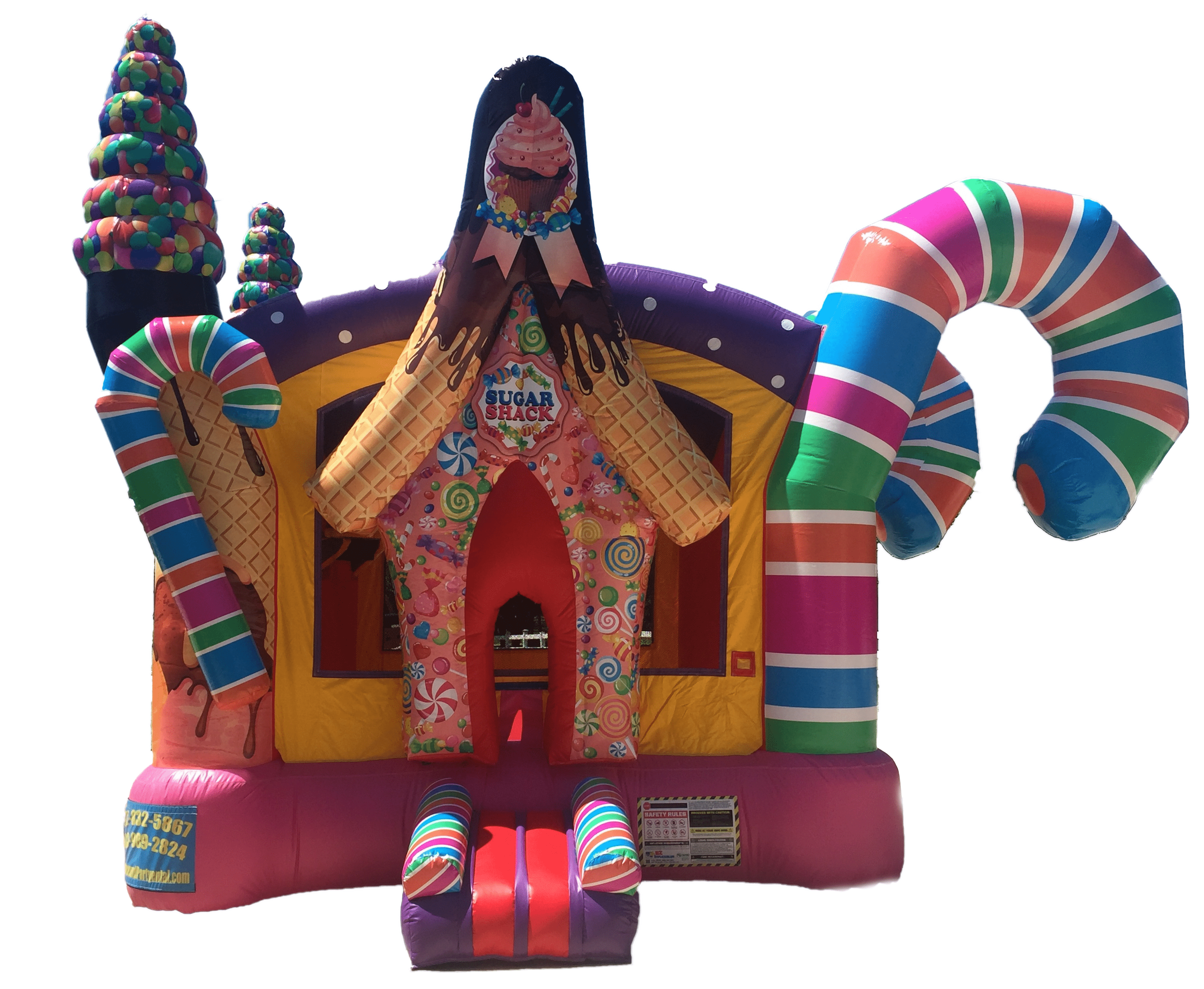 sugar shack inflatable bounce house rentals