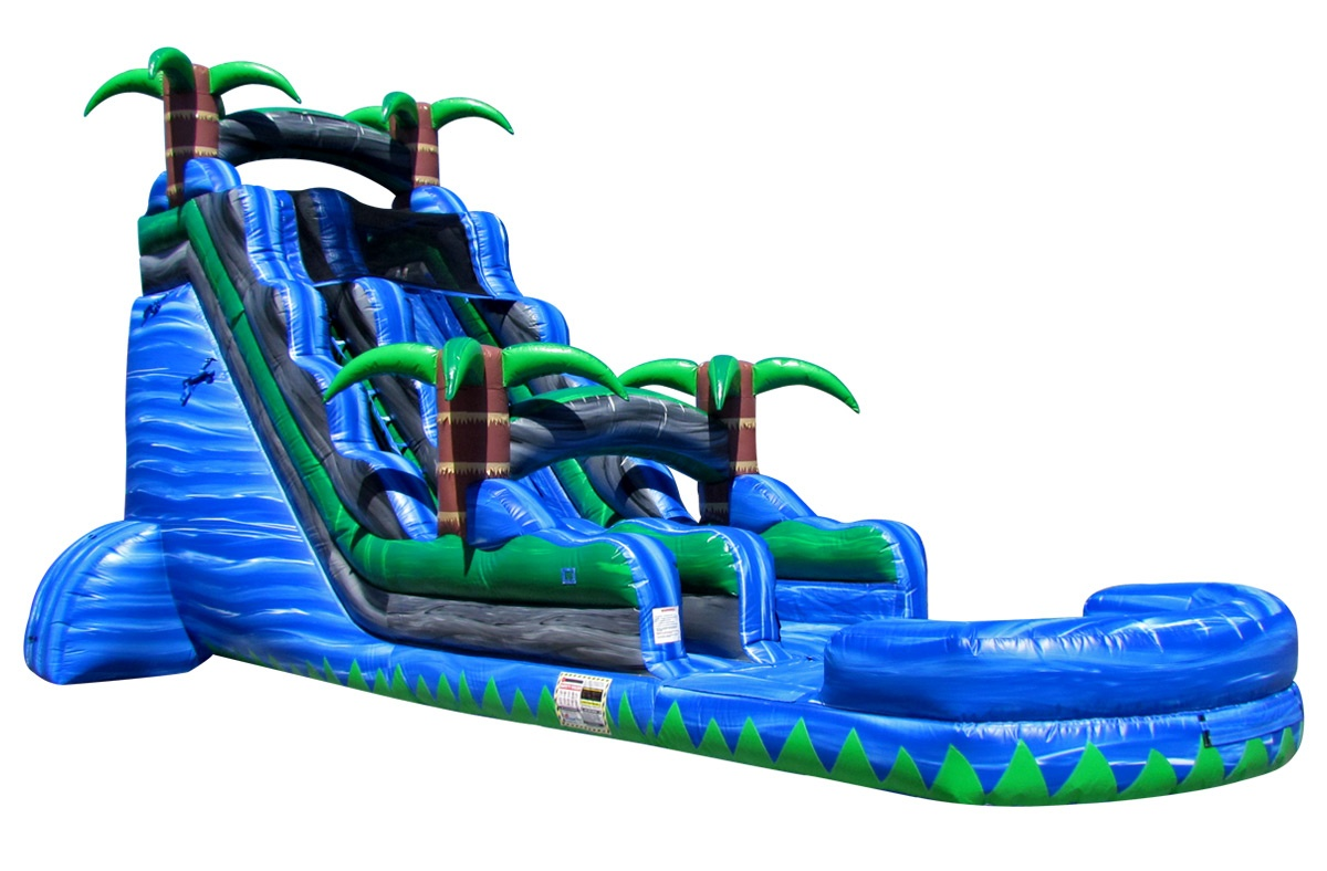 Water Slides 22ft Blue Crush Water Slide Inflatable