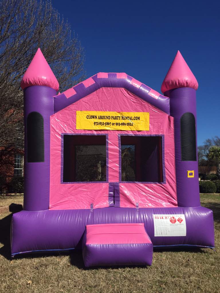 Pink And Purple Bounce House Jumpers