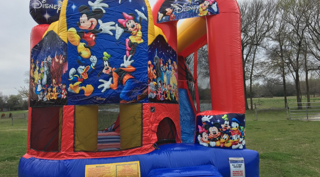 A Bounce House For The Perfect Themed Party Clown Around Party Rentals