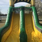 This is an inflatable obstacle course slide