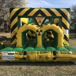 This is an inflatable obstacle course rear view